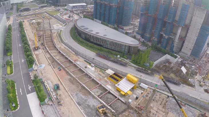 MRT Project– Shenton Way Station